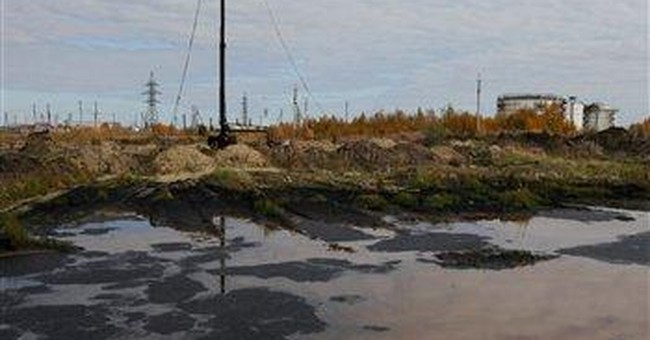 Thousands of tons spilled at oil field in Russia